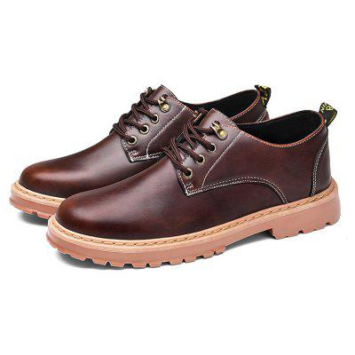 Buy CTSmart Male British Classic Retro Casual Leather Shoes, DEEP BROWN, 44, Bags & Shoes, Men's Shoes, Casual Shoes for $19.64 in GearBest store