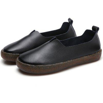 Female Simple Fresh Thick-sole Casual Loafer Oxford Shoes