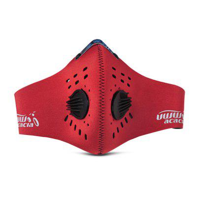 Buy RED XL acacia Anti-haze PM2.5 Breathable Cycling Protective Mask for $11.52 in GearBest store