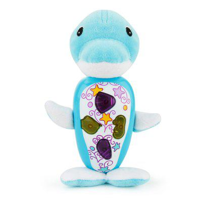 Dolphin Style Plush Toy with Music for Baby