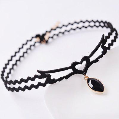 Heart Shape Women Necklace with Hollow Chain