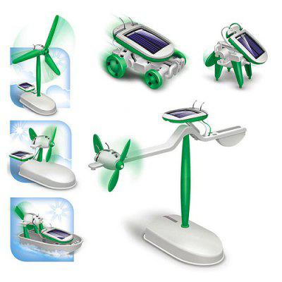 DIY Solar Powered 6-in-1 Assembly Kit Model Toy