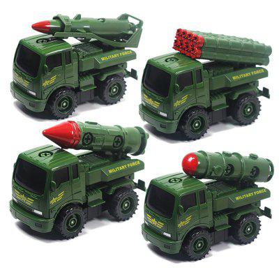 Creative Soft Building Blocks Air Defense Missile Car Model