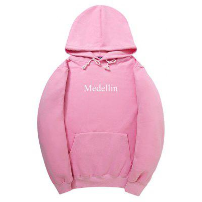 HZIJUE Simple Casual Letters Printing Hoodie for Men