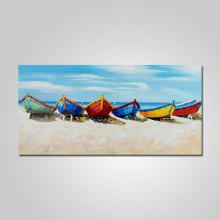 YHHP Colorful Ships Canvas Home Decoration Oil Painting
