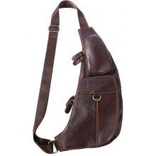 YUANFANVIP Leisure Genuine Leather Chest Bag for Men