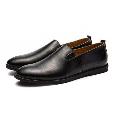 Buy Male Quintessential Soft Light Slip-on Casual Leather Shoes, BLACK, 42, Bags & Shoes, Men's Shoes, Flats & Loafers for $24.76 in GearBest store