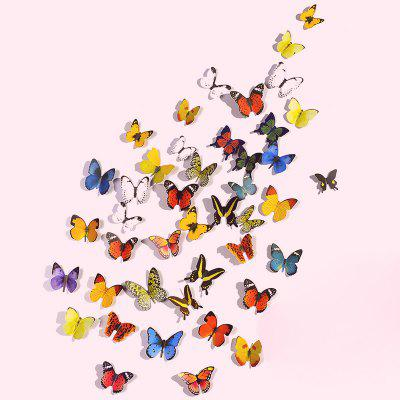 Buy 3D Mural Decals Butterflies Wall Sticker 72pcs, COLORMIX, Home & Garden, Home Decors, Wall Art, Wall Stickers for $7.61 in GearBest store