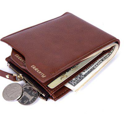 Men Trendy RFID Blocking PU Bifold Wallet
