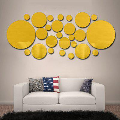 Buy Creative Mirror Effect Decal Home Decor Wall Sticker, YELLOW, Home & Garden, Home Decors, Wall Art, Wall Stickers for $8.64 in GearBest store