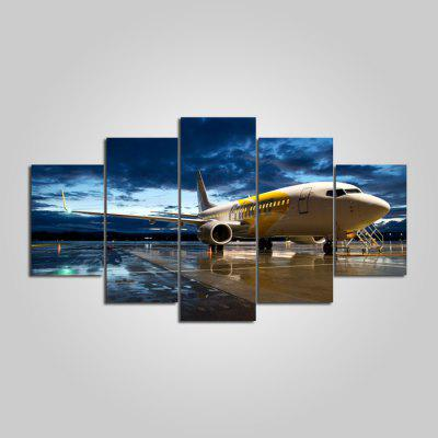 Buy COLORMIX YSDAFEN Airport Printed Painting Canvas Print 5PCS for $55.37 in GearBest store