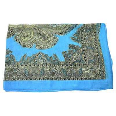 Classic Thin Floral Pattern Silk Scarf