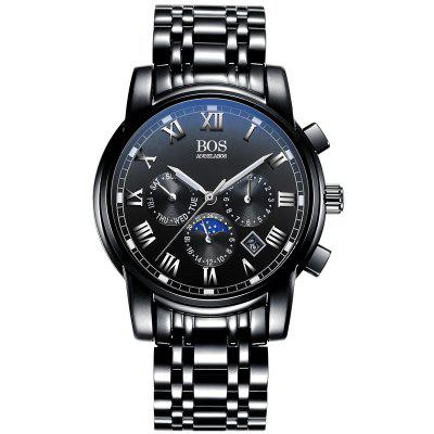 Buy AngelaBos 8008G Male Steel Band Quartz Watch, BLACK, Watches & Jewelry, Men's Watches for $28.33 in GearBest store