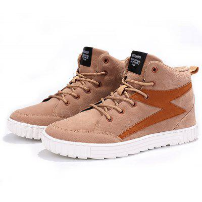 Buy APRICOT 46 Male Soft Ankle-padded Thick-sole Casual Leather Shoes for $23.99 in GearBest store