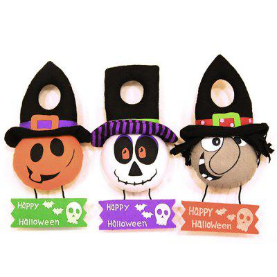 MCYH LG613 Decorations Pumpkin Witch Doll Door Hanger 1PC
