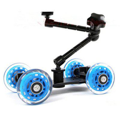 Tabletop Portable Skater Dolly Car + Magic Arm for Camera Rig