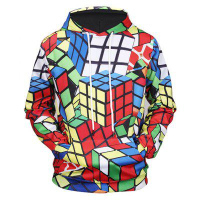 Herr 1991 INC Miss Go Männlicher Magic Cube Printed Hoodie