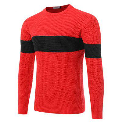 Men Sweater Warm Round Collar