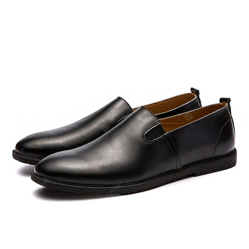 Male Quintessential Soft Light Slip-on Casual Leather Shoes