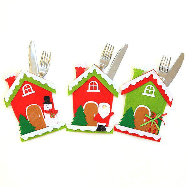 MCYH LG616 Christmas Decorations Knife Fork Set