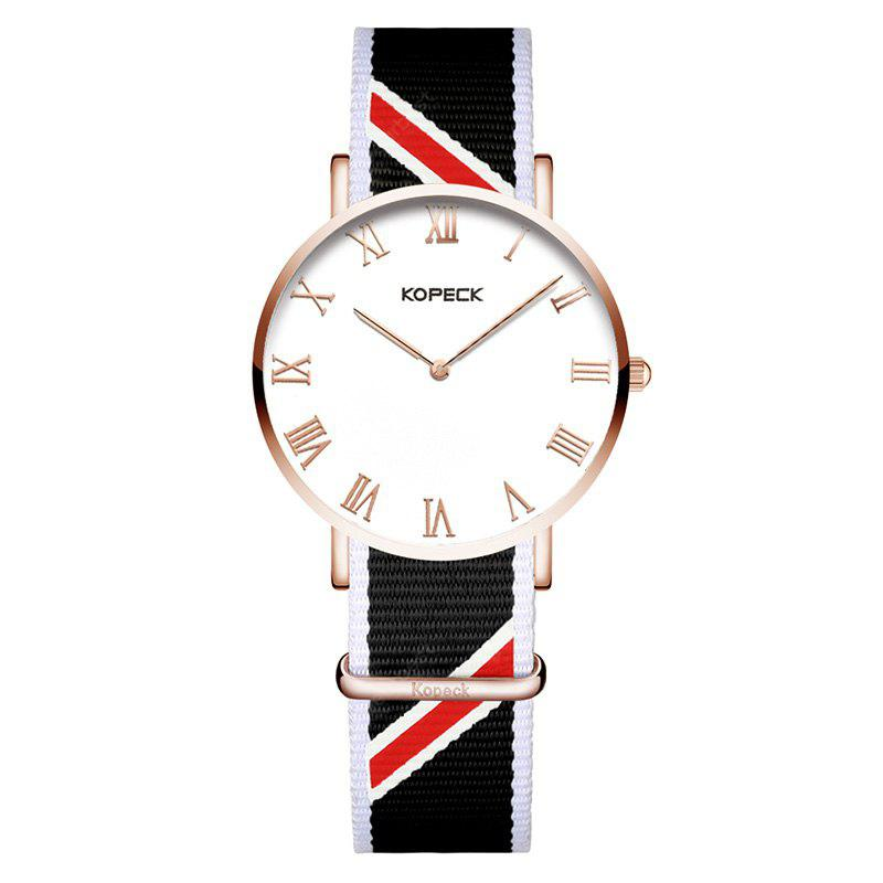 KOPECK 6012G Simple Nylon Band Men Quartz Watch