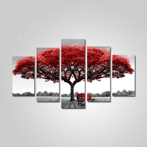 Jingsheng PGP145 Red Fortune Tree Decor Painting