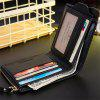 Men Trendy RFID Blocking PU Bifold Wallet - BLACK