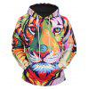 Mr 1991 INC Miss Go Colorful Lion Printing Christmas Hoodie - COLORMIX
