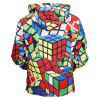 Herr 1991 INC Miss Go Männlicher Magic Cube Printed Hoodie - COLORMIX