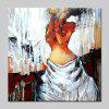 YHHP Abstract Girl Canvas Home Decoration Oil Painting - COLORMIX