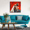 YHHP Dancing Girl Canvas Home Decoration Oil Painting - RED