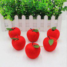 Artificial Foam Apple Handmade Christmas Accessory 6PCS
