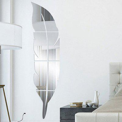 Buy Acrylic Mirror Wall Stickers Feather Shape Mural Decals, SILVER, Home & Garden, Home Decors, Wall Art, Wall Stickers for $5.34 in GearBest store