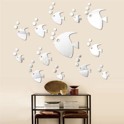 Buy Acrylic Mirror Wall Stickers Tropical Fish Shape Mural Decals, SILVER, Home & Garden, Home Decors, Wall Art, Wall Stickers for $4.14 in GearBest store