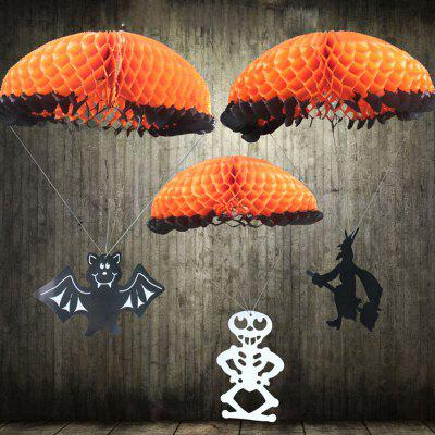 MCYH Halloween Ornament Paper Hanging Pendant 3pcs