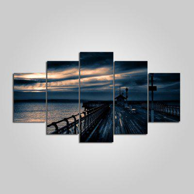 Buy COLORMIX YSDAFEN Riverview Printed Painting Canvas Print 5PCS for $55.37 in GearBest store