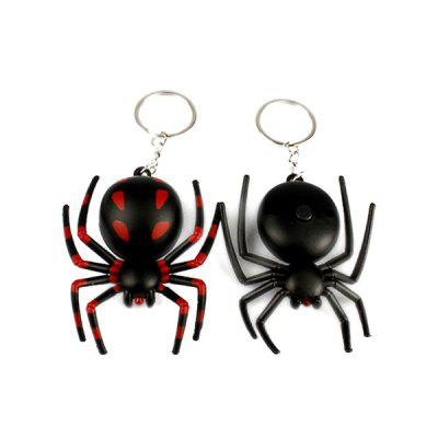 Spider Shape LED Luminous breloczek do kluczy z dźwiękiem 1PC