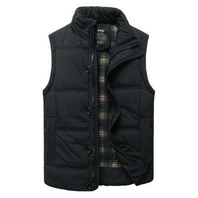 Buy Casual Padded Vest, BLACK, 3XL, Apparel, Men's Clothing, Men's Jackets & Coats for $21.96 in GearBest store