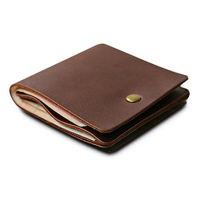 Men Slim Durable Genuine Leather Mini Wallet
