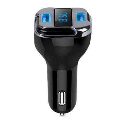 E5 Dual USB Interfaces Car Charger with LED Display Screen