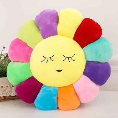 QQ Emoji Sunflower Style Throw Pillow / Back Cushion