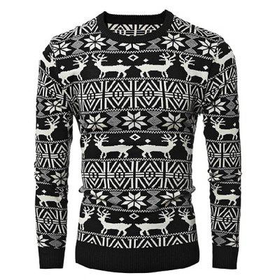 Male Deer Round Collar Spliced Sweater for ChristmasMens Sweaters &amp; Cardigans<br>Male Deer Round Collar Spliced Sweater for Christmas<br><br>Package Contents: 1 x Sweater<br>Package size: 35.00 x 25.00 x 2.00 cm / 13.78 x 9.84 x 0.79 inches<br>Package weight: 0.5200 kg<br>Product weight: 0.5000 kg