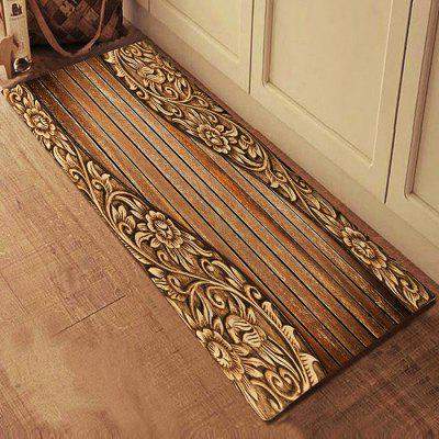 Pattern of Wood Floor Rug Mat Flannel Carpet