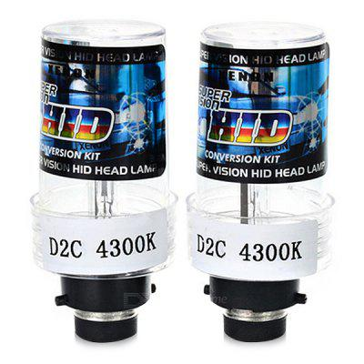D2C / D2S / D2R Connector HID Xenon Bulb Headlight 2PCSCar Lights<br>D2C / D2S / D2R Connector HID Xenon Bulb Headlight 2PCS<br><br>Apply lamp position: External Lights<br>Apply To Car Brand: Universal<br>Color temperatures: 4300K<br>Connector: D2R, D2S<br>Feature: Low Power Consumption, Easy to use, Durable high performance<br>Lumens: 3200lm<br>Package Contents: 2 x Light<br>Package size (L x W x H): 9.00 x 8.20 x 4.50 cm / 3.54 x 3.23 x 1.77 inches<br>Package weight: 0.0780 kg<br>Power: 35W<br>Product size (L x W x H): 8.50 x 3.30 x 3.30 cm / 3.35 x 1.3 x 1.3 inches<br>Product weight: 0.0600 kg<br>Type: Headlights<br>Type of lamp-house: Xenon<br>Voltage: 9-16V
