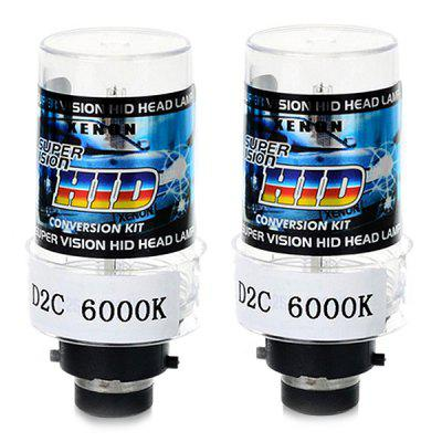 D2C / D2S / D2R Connector HID Xenon Bulb Headlight 2PCSCar Lights<br>D2C / D2S / D2R Connector HID Xenon Bulb Headlight 2PCS<br><br>Apply lamp position: External Lights<br>Apply To Car Brand: Universal<br>Color temperatures: 6000K<br>Connector: D2R, D2S<br>Feature: Low Power Consumption, Easy to use, Durable high performance<br>Lumens: 3200lm<br>Package Contents: 2 x Light<br>Package size (L x W x H): 9.00 x 8.20 x 4.50 cm / 3.54 x 3.23 x 1.77 inches<br>Package weight: 0.0780 kg<br>Power: 35W<br>Product size (L x W x H): 8.50 x 3.30 x 3.30 cm / 3.35 x 1.3 x 1.3 inches<br>Product weight: 0.0600 kg<br>Type: Headlights<br>Type of lamp-house: Xenon<br>Voltage: 9-16V