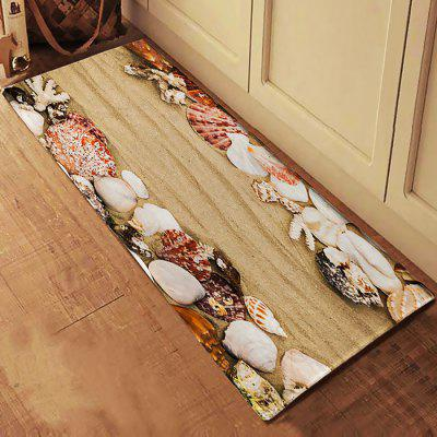 Shell Beach Floor Rug Mat Flannel Carpet