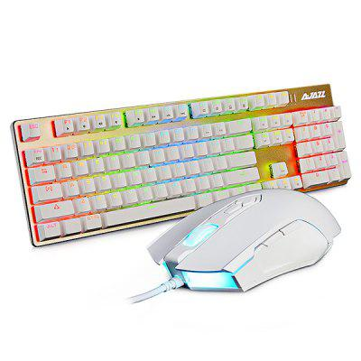 AJAZZ AJ52 RGB Mechanical Keyboard Mouse Combo