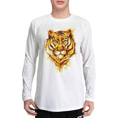 Mr.1991INC Miss.GO Creative Tiger Printing T-Shirt for Men