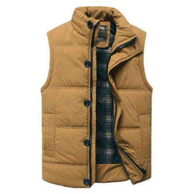 Buy Casual Padded Vest, EARTHY, M, Apparel, Men's Clothing, Men's Jackets & Coats for $21.96 in GearBest store