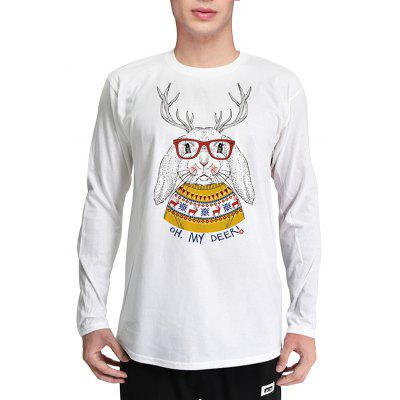 Mr 1991 INC Miss Go T-shirt Masculino 3D Print Rabbit Pattern